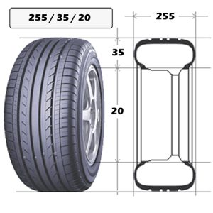 Шины 255/35 R20