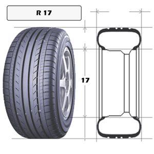 Шины R 17 бу